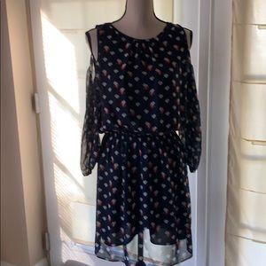 NWT max studio cold shoulder dress